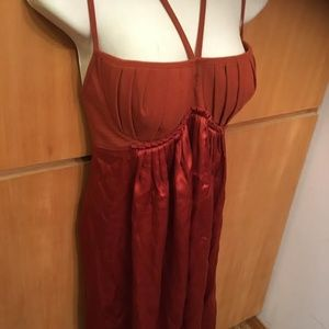 Black Halo Rust Halter Dress size 6